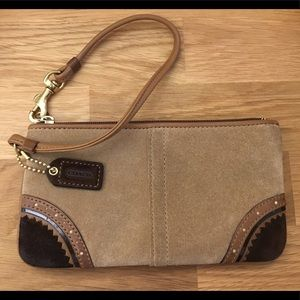 Suede Coach Wristlet - AUTHENTIC - iPhone fits!